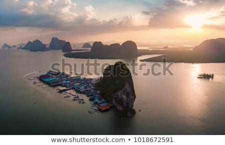 Ada Tayland güzel manzara deniz balıkçı Stok fotoğraf © Yongkiet
