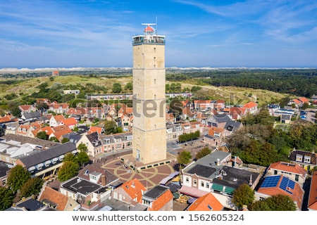 Photo stock: Village · Pays-Bas · phare · île · paysage