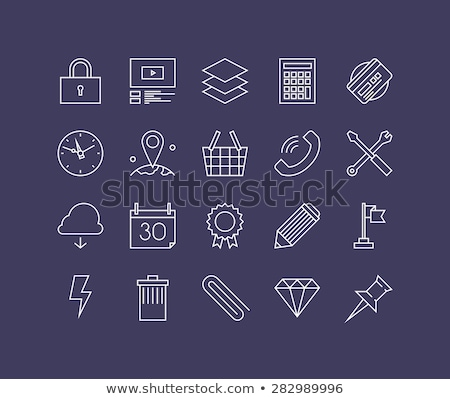 Simple office desk with necessary tool Stock photo © nalinratphi