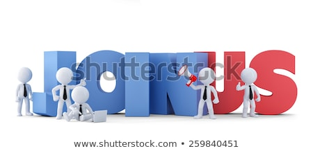 group of businesspeople with join us sign business conceptisolated contains clipping path stock photo © kirill_m