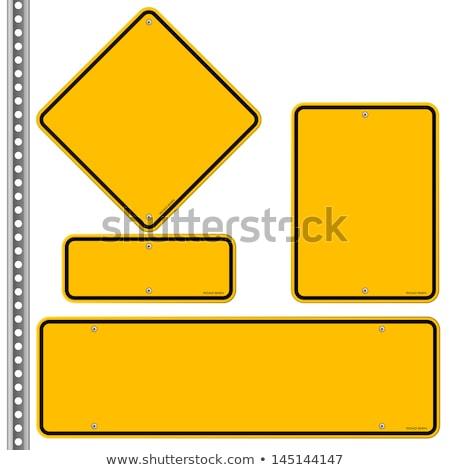 Figyelmeztető jel tér vektor citromsárga ikon terv Stock fotó © rizwanali3d