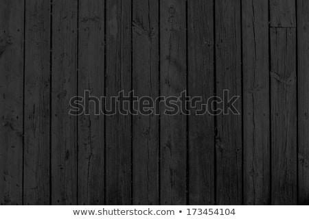 Fekete fából készült fal bambusz kókusz kagyló Stock fotó © scenery1