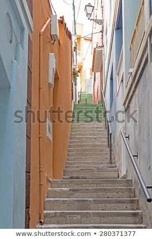 Pittoresque allée village île Espagne bâtiment Photo stock © haraldmuc