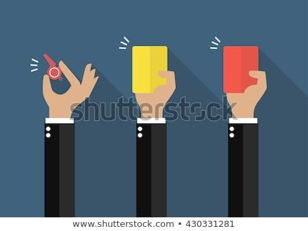 feliz · empresário · cartão · branco · mãos - foto stock © ambro