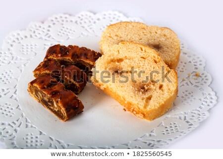 Mini noce crostata primo piano mascarpone dessert Foto d'archivio © aladin66