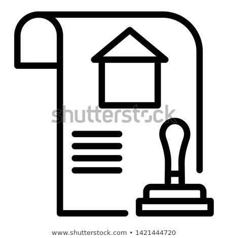 Hipoteca carimbo financeiro papel negócio casa Foto stock © fuzzbones0