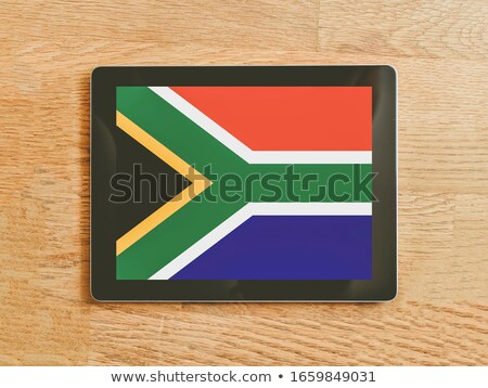 Tablet with South Africa flag Stock photo © tang90246