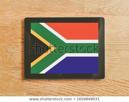 Sudafrica · bandiera · sfera · isolato · bianco · african - foto d'archivio © tang90246