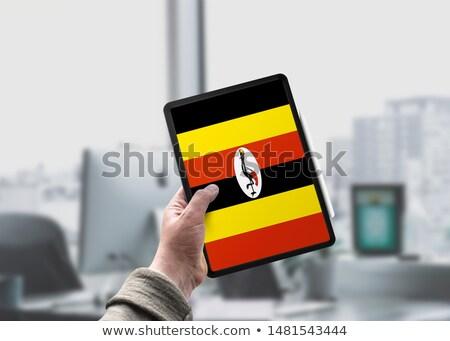 Tablet with Uganda flag Stock photo © tang90246
