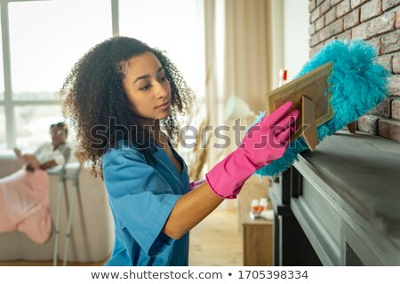 Stock photo: I'll help cleaning up