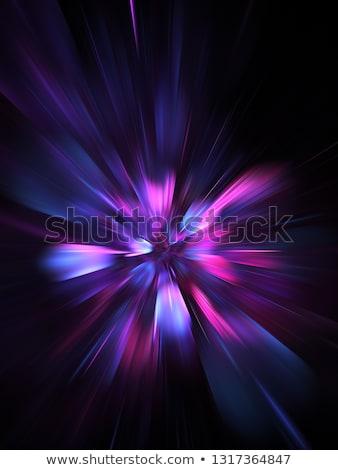 ilustração · fractal · abstração · brilhante · arte · silhueta - foto stock © yurkina
