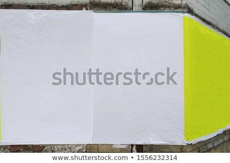 vintage · papier · mur · de · briques · mur · métal · art - photo stock © stevanovicigor