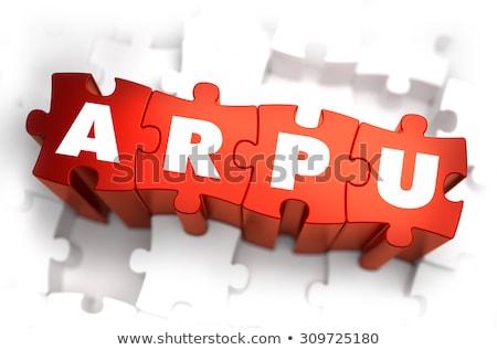 ARPU - Text on Red Puzzles. Stock photo © tashatuvango