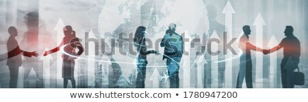 3次元の女 ハンドシェーク 世界中 白 先頭 角度 ストックフォト © nithin_abraham