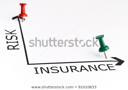 insurance chart with green pin stock photo © fuzzbones0