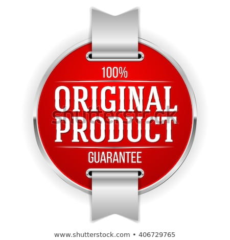 Oryginał produktu czerwony wektora ikona projektu Zdjęcia stock © rizwanali3d