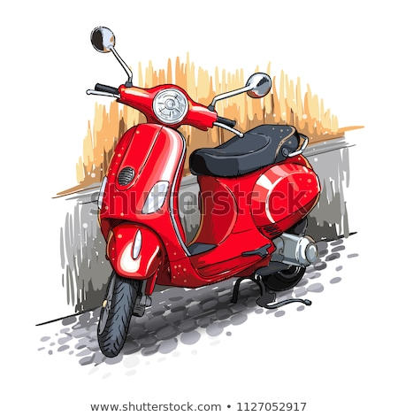velho · preto · e · branco · rua · preto · motocicleta - foto stock © bubutu