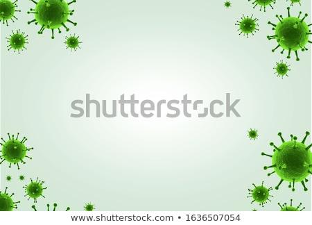 Flu. Medical Concept on Green Background. Stock photo © tashatuvango