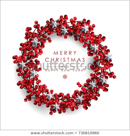 Christmas Wreath with Red Berries Stock photo © -Baks-