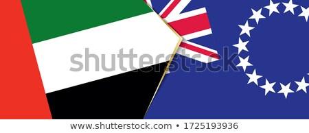 Egyesült Arab Emírségek szakács szigetek zászlók puzzle izolált Stock fotó © Istanbul2009