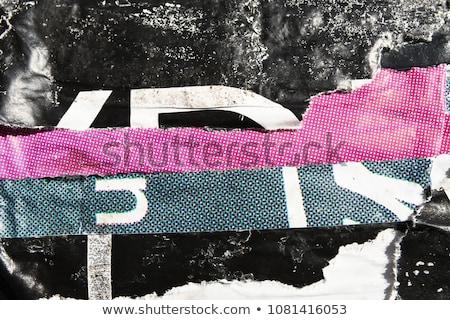 desgarrado · anunciante · papel · textura · grunge · urbanas · diseno · gráfico - foto stock © stevanovicigor
