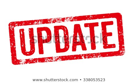 red stamp on a white background   update stock photo © zerbor
