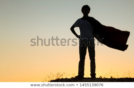 silhouette of  businessman superman pose Stock photo © Istanbul2009