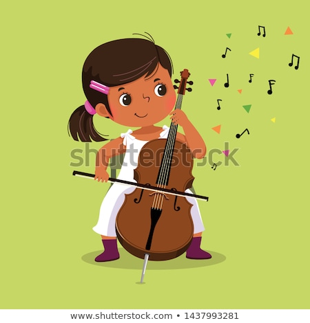 Girl with cello Stock photo © svetography