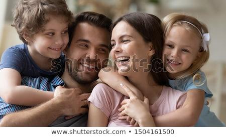 Vicces portré házaspár nő család fű Stock fotó © Paha_L