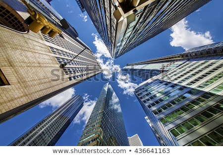 Huis kant een beroemd Manhattan Stockfoto © rmbarricarte