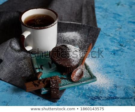chocolate · lasca · bolinhos · escuro - foto stock © zhekos