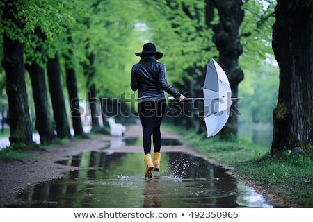 çocuk · çamur · su · yağmur - stok fotoğraf © paha_l