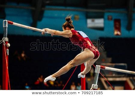 女性 体操選手 実例 リボン ジャンプ ストックフォト © lenm