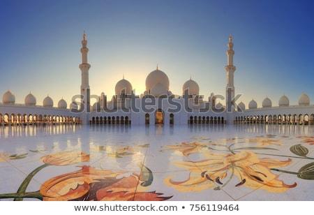 Meczet Abu Dabi niebo budowy sztuki niebieski Zdjęcia stock © vlaru