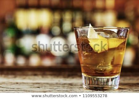 Classic sazerac cocktail Stock photo © netkov1