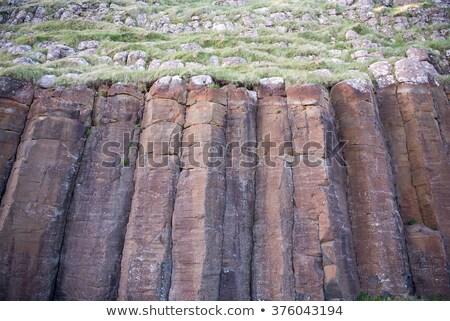 базальт колонн большой красный пейзаж Сток-фото © Arrxxx