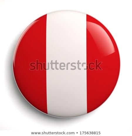 Peru vlag ovaal knop zilver geïsoleerd Stockfoto © Bigalbaloo