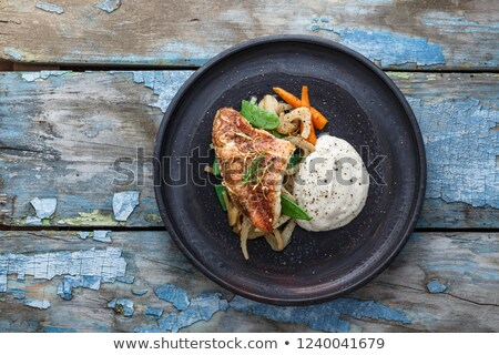 sea bream fillet butter pan fried  Stock photo © keko64