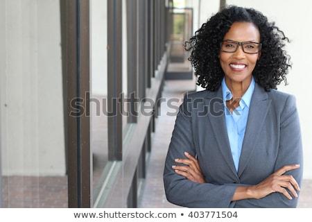 Amavelmente mulher de negócios asiático retrato isolado Foto stock © elwynn