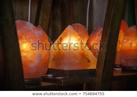 Himalayan pink salt lamp Stock photo © grafvision