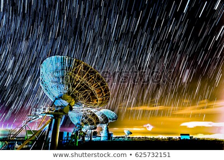 Satellite on the ground at night Stock photo © bluering