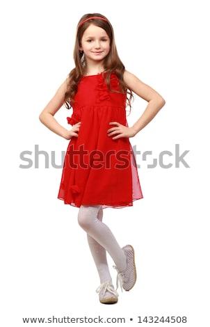 csábító · szőke · nő · vörös · ruha · szőke · nő · vörös · rúzs · visel - stock fotó © neonshot