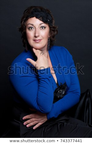 belle · femme · coloré · verger · belle · dame · fleur - photo stock © konradbak