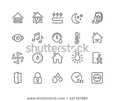 háztartás · szilárd · webes · ikonok · vektor · szett · elektronika - stock fotó © conceptcafe