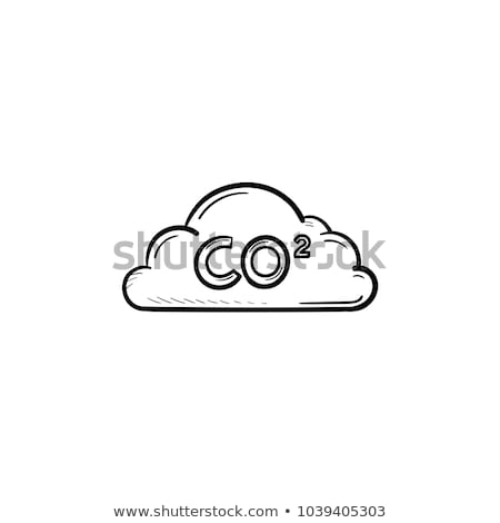 CO2 sign in cloud sketch icon. Stock photo © RAStudio