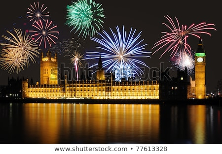 Doze novo anos champanhe bokeh efeitos Foto stock © -Baks-