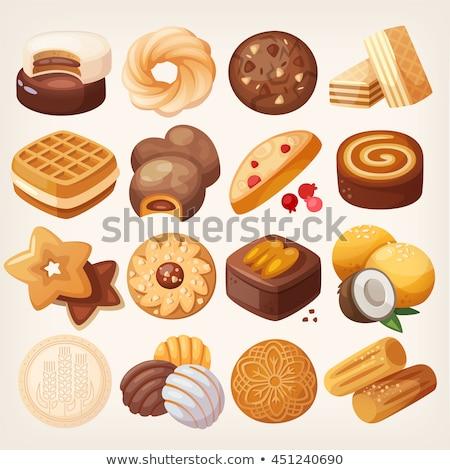 Stockfoto: Appel · vla · ontbijt · gebak · vulling · voedsel