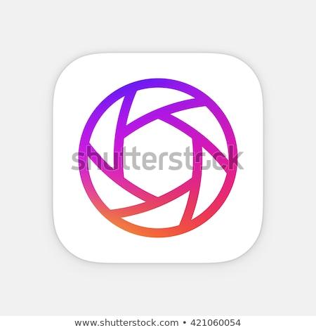 Aplicativo ícone modelo móvel aplicação vetor Foto stock © Said
