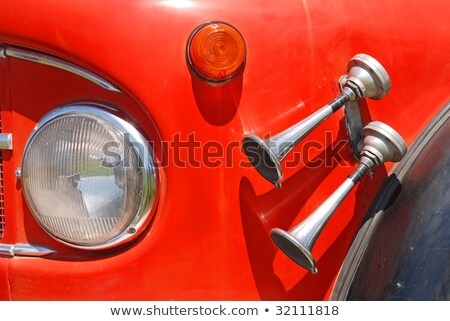 old vintage fire truck with pumps and pipes stock photo © vladacanon