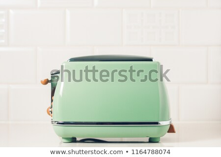 зеленый тостер 3D оказанный изображение кухне Сток-фото © bayberry